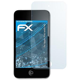 アップルのiPodタッチ4Gガラス保護フィルム9Hハイブリッドガラスと互換性のあるatFoliXガラスプロテクター