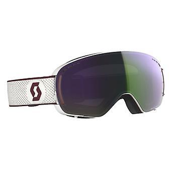 Scott Masque de ski LCG Compact Blanc/Merlot Rouge Green Chrome 2 ecrans