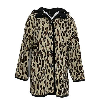 Susan Graver Women's Weekend Reversible Polar Fleece Coat Black A366176 #1