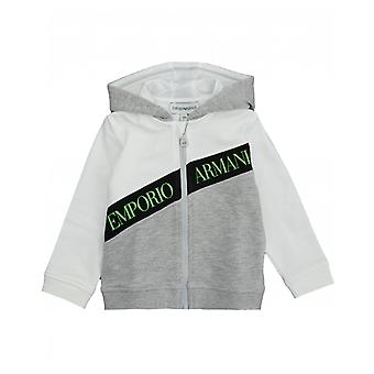 Armani Junior Logo Mesh Trim zip attraverso la parte superiore
