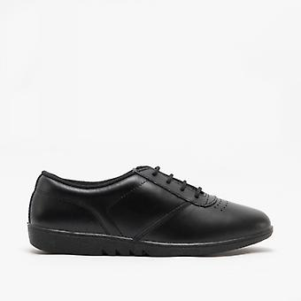 Boulevard Treble Ladies Leather Leisure Oxford Shoes Black