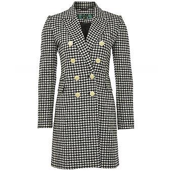 Holland Cooper Wool Knightsbridge Houndstooth Coat