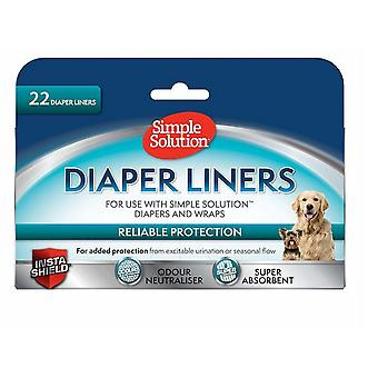 Simple Solution Dog Nappy Liners (Pack Of 22)