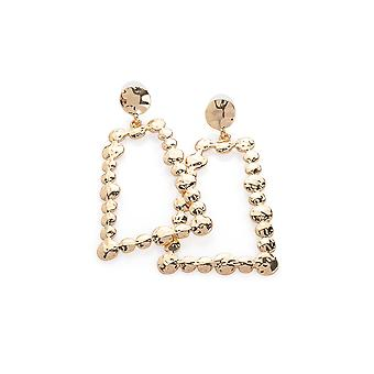 Gold Triangle Drop Earrings