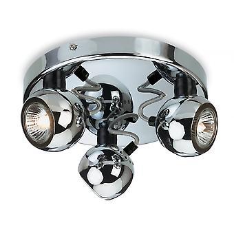 Firstlight Gyre Modern Chrome Adjustable Flush Ceiling Light