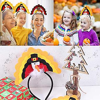 Acronde 3pcs Novelty Thanksgiving Turkey Roast Turkey Hat Turkey Headband Tur...