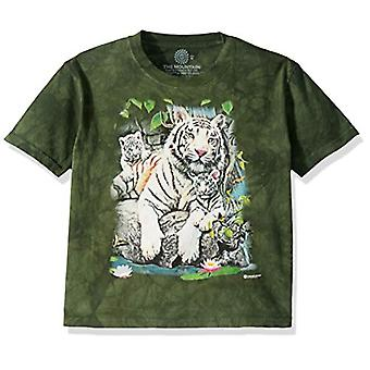 The Mountain Unisex-Adult's White Tigers of Bengal, Green, Medium