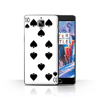 STUFF4 Case/Cover for OnePlus 3/3T/10 of Spades/Playing Cards