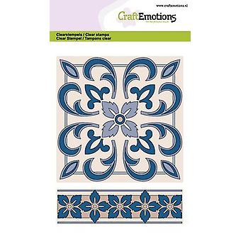 Craftemotions Clear Stamps A6 - Tile 1