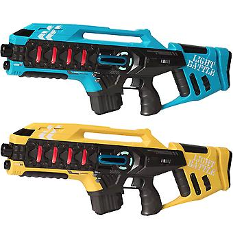 2 Anti-Cheat laser game rifles-blue and yellow