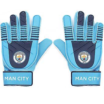 Manchester City FC Oficial Regalo de Fútbol Niños Jóvenes Portero Goleador Guantes