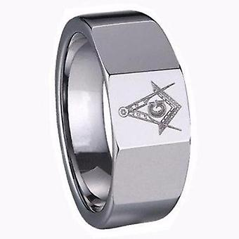 Carbide classic masonic ring