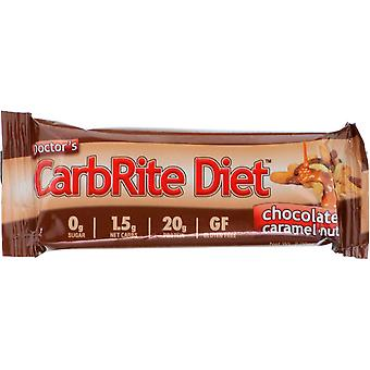Universal Nutrition Doctor's CarbRite Diet Bars - 12 Bares- Chocolate Caramel Nut