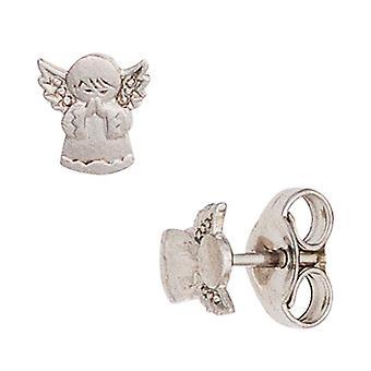 Kids studearrings angel guardian angel 925 silver matted earrings kids earrings