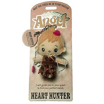 Watchover Angels Heart Hunter Angel Keyring