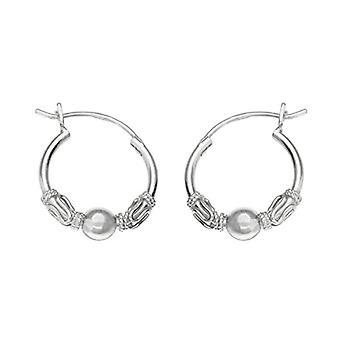 ERS-K21052 - Women's hoop earrings - sterling silver 925