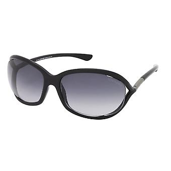 Tom Ford Jennifer TF8 01B Gafas de sol Shiny Black/Smoke Gradient