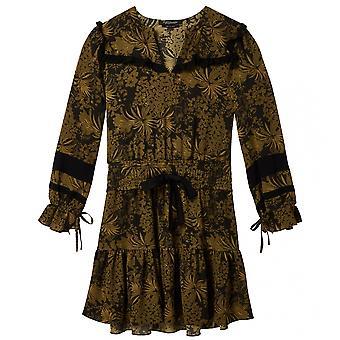 Maison Scotch Maison Scotch manga larga impresa vestido de mujeres la colmena contraste