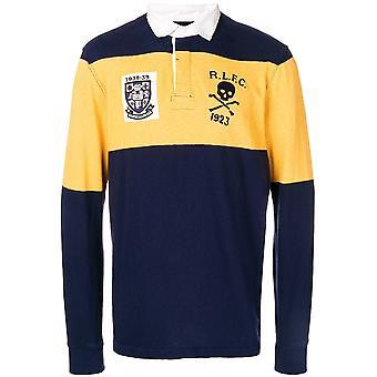 Ralph Lauren Ezcr012002 Men's Blue/yellow Cotton Polo Shirt