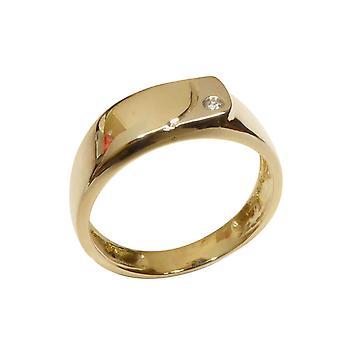 Gelbgold Diamant Cachet Ring
