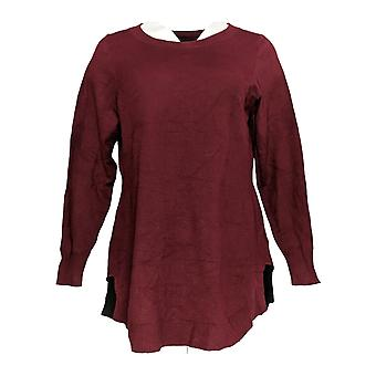 Attitudes by Renee Women's Sweater Burgundy Red A310883