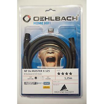 Oehlbach NF 14 Master X 125 Audio XLR Cable Anthracite 1.25 meters 2 pieces New