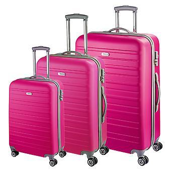 d&n Travel Line 9400 Case Set 3-delige, Roze