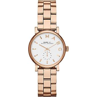 Marc Jacobs MBM3248 Baker Mini Rose-Gold Stainless-Steel Swiss Quartz with White Dial Ladies Watch