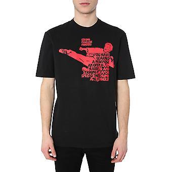 Dsquared2 S71gd0904s22507900 Miesten's Musta Puuvilla T-paita