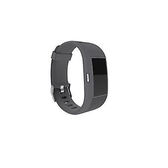 Replacement Wristband Bracelet Strap Band for Fitbit Charge 2 Classic Buckle[Slate,Small] BUY 2 GET 1 FREE