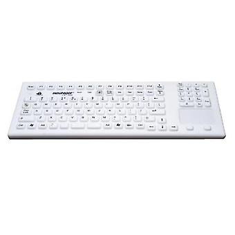 GETT InduKeys - Magnetic Backlit Sanitizable Silicone USB Keyboard