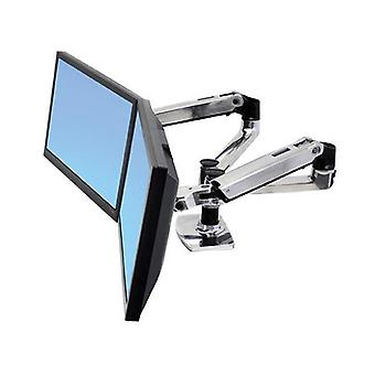 Ergotron Lx Dual Side By Side Arm Desk Mount Polished Aluminum