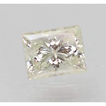 Certified 0.65 Carat H Color VS2 Princess Natural Diamond 5.47x4.36mm 2EX