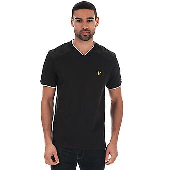 Men's Lyle And Scott Nylon Panel T-shirt in Black