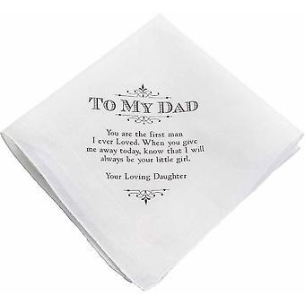 To Dad Wedding Handkerchief