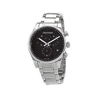 Calvin Klein K8S27141 Chronograph Quarz schwarzes Zifferblatt Herren's Uhr