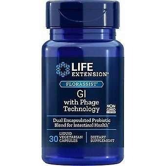 Life Extension Florassist GI con Phage Technology 30 Cápsulas Vegetales