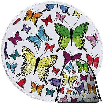 متعدد الملونة الفراشات منشفة الشاطئ