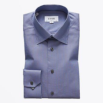 Eton  - Jacquard Weave Shirt - Blue
