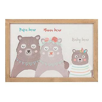 Bohemian Babe Boho Bear Family Framed Art