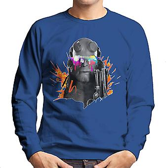 Hellboy II Paint Splatter Men's Sweatshirt