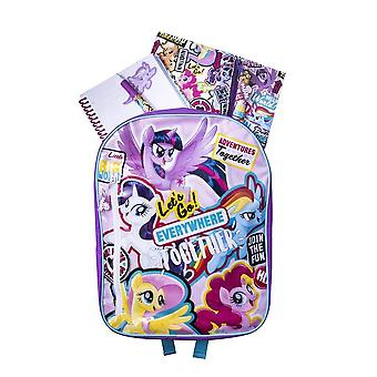 My Little Pony Movie Backpack with Stationery Set