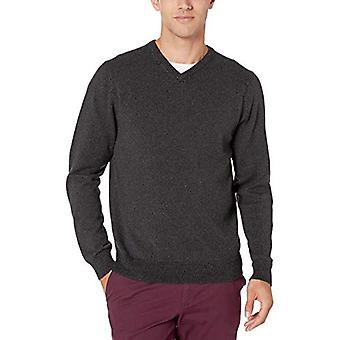 Essentials Męskie&s V-Neck Sweter, Charcoal Marled X-Large