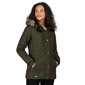 Regatta Womens Zella Insulated Quilted Parka Coat Jacket
