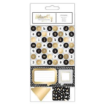 Noteworthy Metallic Mono Stickers