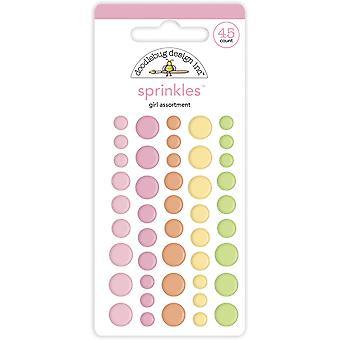 Doodlebug Design Baby Girl Sortiment Strössel (45st) (6754)