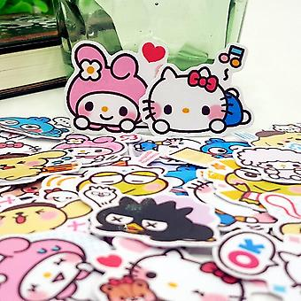 Cartoon Album Scrapbook Waterproof Decoration Stickers - Diy Handmade Hello