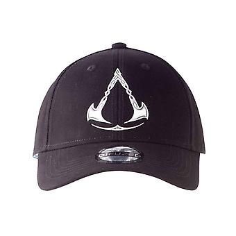 Assassins Creed Valhalla Baseball Cap Metal Symbol new Official Black Strapback