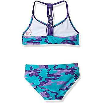 Kanu Surf Big Girls' Willow V-Neck Bikini Beach Sport 2-Piece Swimsuit, Erin ...