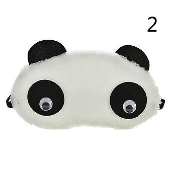 3 Styles Cute Face White Panda Øjne skygge søvn bomuld - Eye Mask Cover